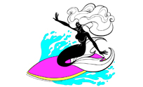 SURFING BLACK MERMAID®